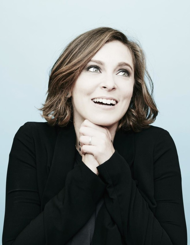 BEVERLY HILLS, CA- AUGUST 11: (EDITORS NOTE: This image has been digitally altered) Rachel Bloom from CW's 'Crazy Ex Girlfriend' poses in the Getty Images Portrait Studio powered by Samsung Galaxy at the 2015 Summer TCA's at The Beverly Hilton Hotel on August 11, 2015 in Beverly Hills, California. (Photo by Maarten de Boer/Getty Images Portrait)