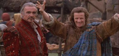 Sean_Connery_and_Christopher_lambert_in_the_market_scene_in_Highlander.